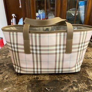 Authentic Haymarket Burberry Tote